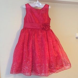 Red Glittery Special Occasion Dress